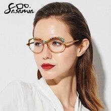 SASAMIA משקפיים מסגרת נשים בציר חתול עיניים משקפיים מרשם משקפיים מסגרות קוצר ראיה מסגרת משקפיים לנשים מגמות