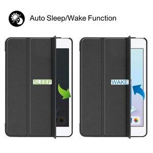 Image 4 - For iPad Mini 4 5 2019 Case with Pencil Holder, for iPad Mini 1 2 3 Silicone Cover, Stand PU Leather Funda Auto Sleep  Capa