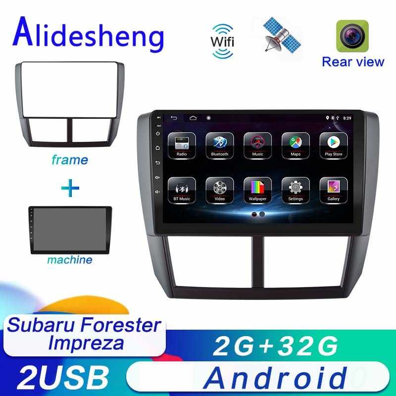 2 DIN Android untuk Subaru Forester Impreza 2008 2009 2010 2011 2012 2013 Android Mobil Dvd Multimedia Player Stereo Radio