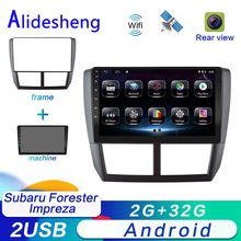 2 din android para subaru forester impreza 2008 2009 2010 2011 2012 2013 android carro dvd player multimídia rádio estéreo