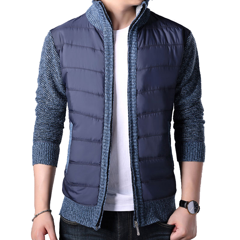 Men's Winter Thick Sweatercoat Autumn Sweater Coat Outerwear Casual Fleece Cashmere Liner Sweaters Turn-down Collar Cardigan