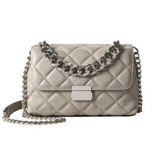 Genuine Leather Women Bag Chai