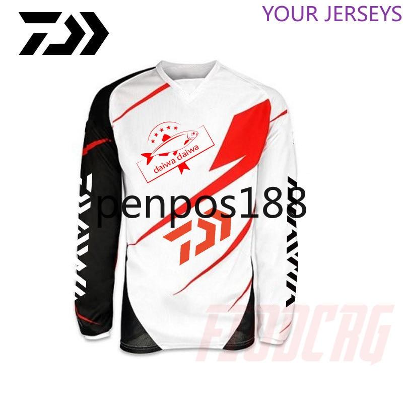2020  DAIWA Long Sleeve Fishing Clothing Quick-Drying Sun UV Protection T Shirt Vests Sports Clothes    Shirts