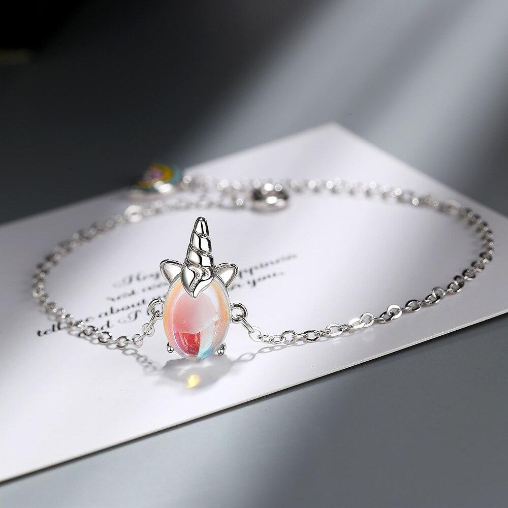CHENGXUN Cute Unicorn Bracelet for Girls Women Animal Bracelets Romantic Fashion Jewelry Christmas Present for Children Daughter