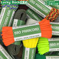 Russian US Stocks 100 Feet 550lb 650lb Paracord/Parachute Cord Rope 7 and 9 Core 100% Polyester Camping Survival Tent Rope
