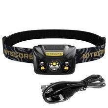 Nitecore nu32 usb farol de carregamento cree XP-G3 s3 max 550 lúmen cabeça leve com bateria embutida para resgate de busca