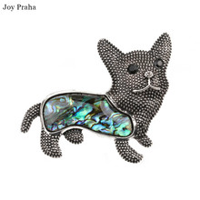 Hot selling abalone women brooch /  Simple shell series animal dog