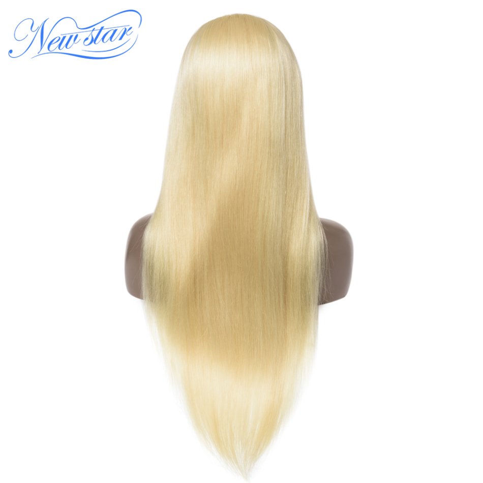 200%Density 613 Straight Lace Front Wig Brazilian Virgin Human Hair Wigs New Star Customized Honey Blonde 13x4 Lace Frontal Wigs image