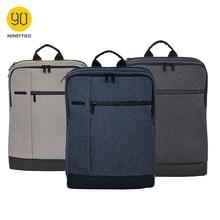 NINETYGO 90FUN Mochila clásica de negocios para hombre y mujer, bolso grande para ordenador portátil de 15 pulgadas, mochila escolar de viaje