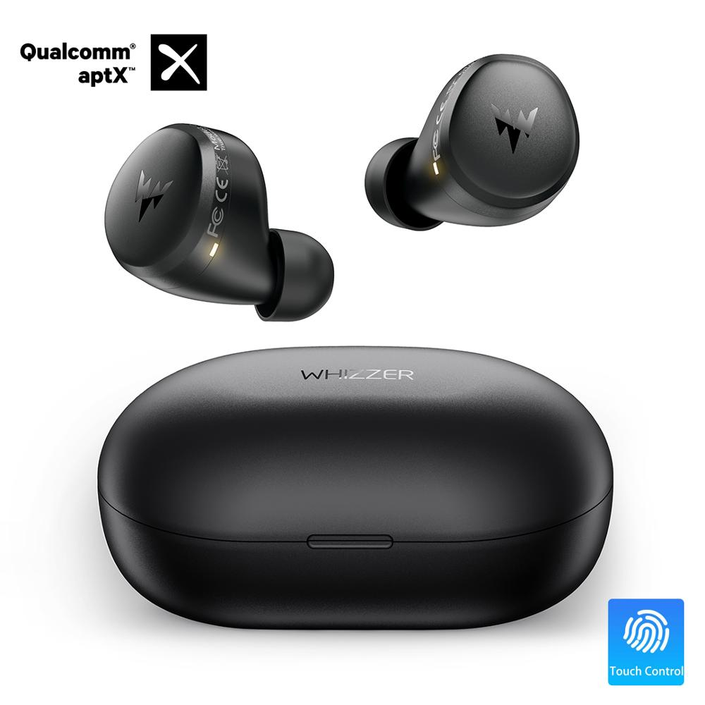 Whizzer APTX Bluetooth Earphone C3 TWS Wireless Earbuds with Qualcomm Chip Volume Control 36H Playtime Original Earbuds