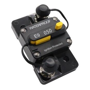 Interruptor de circuito de reinicio Manual de 50 amperios 12 v/24 v, accesorio de barco, Motor de arrastre