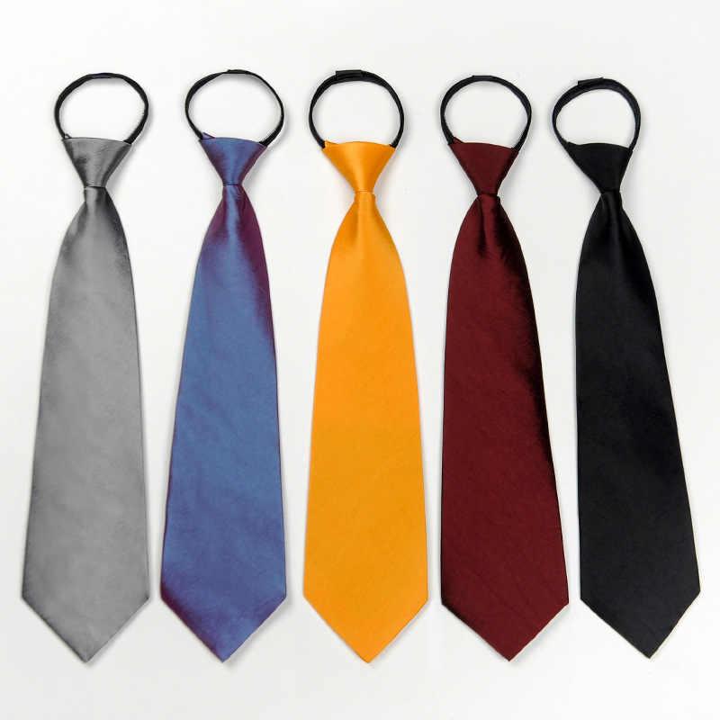 Men Slim Lazy Zipper Neck Tie Necktie Solid Casual Skinny Business Party Decor
