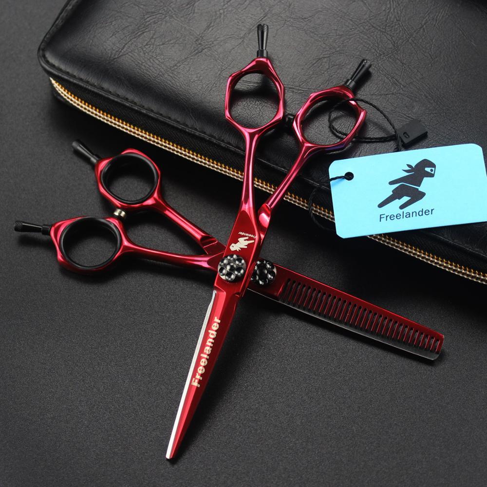 6 Inch High Quality Hair Cutting Scissors Non-slip Hairdressing Professional Barber Scissor Professional Hair Scissors Shear Set