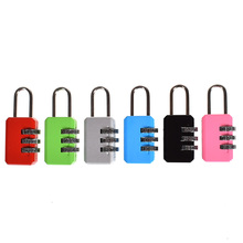 6 Colors Resettable 3 Digit Combination Suitcase Luggage Password Code Lock Travel Bags Security Padlock Free Shipping combination security padlock 4 digit resettable code lock black pack of 2