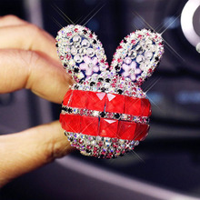 2pcs Car Air Freshener New Fashion Diamond Bunny Conditioner Outlet Fragrance Perfume Clip Lovely Ornaments Auto Accessories