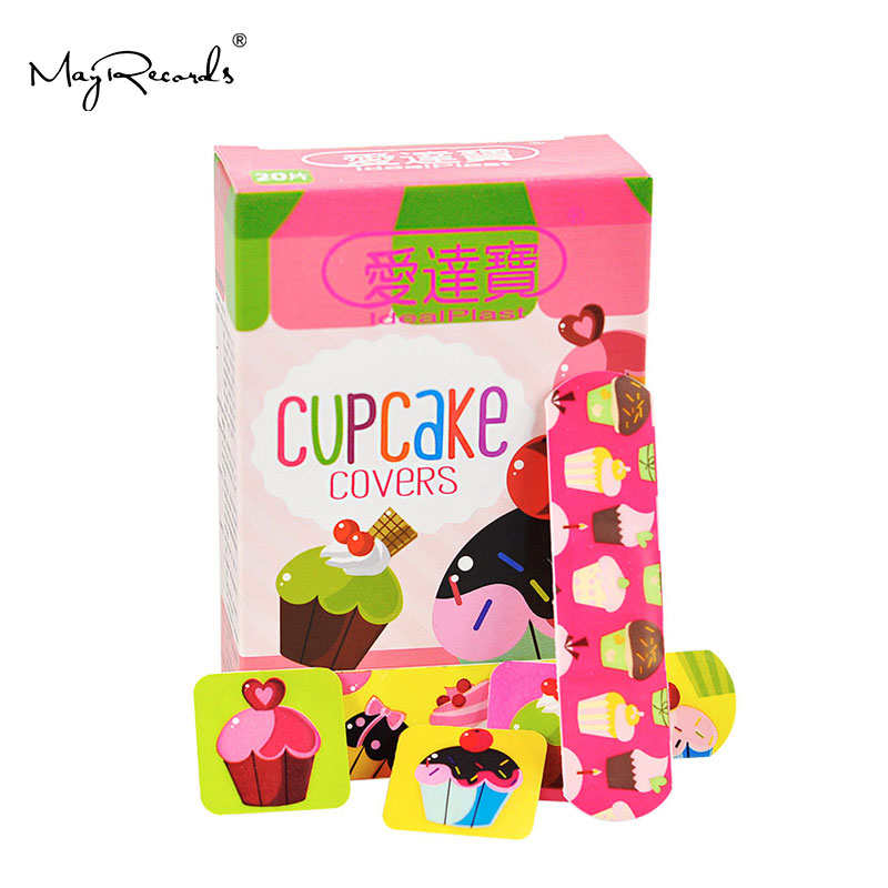Free Shipping Waterproof Breathable 60 PCs/3Boxes Assorted Cupcake Bandages Cute Girls Hemostasis Adhesive Bandage Band Aid