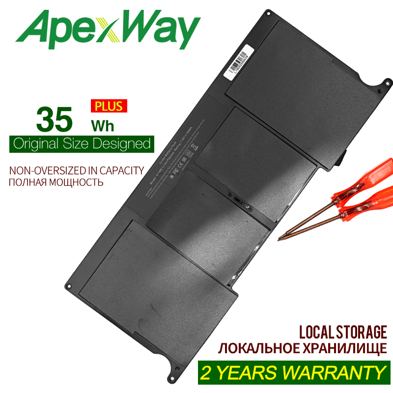 ApexWay 7,6 V 35WH laptop <font><b>Batterie</b></font> A1370 für Apple <font><b>MacBook</b></font> <font><b>Air</b></font> <font><b>11</b></font>