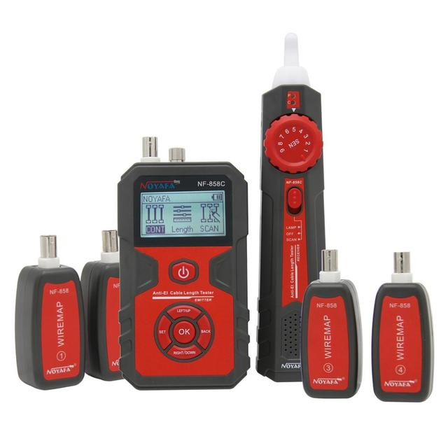 NOYAFA NF-858C Trace Cable Line Locator Portable Wire Tracker Cable Tester Finder Network Cable Testing BNC Measure Cable Length 3