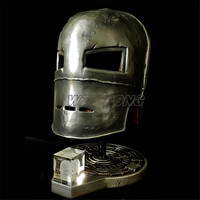 Iron Man MK1 Helmet 1/1 Metal Mask Mark 1 Cosplay for Avengers Iron Man Action Figure Collectible Model Toy Kids Gift