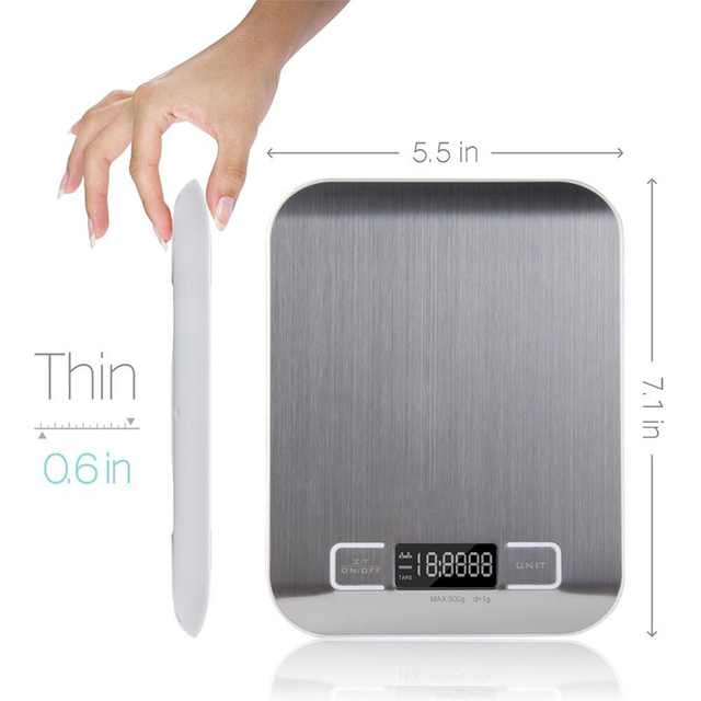 5kg or 11 Pound Electronic Scale With 1g Increments 5