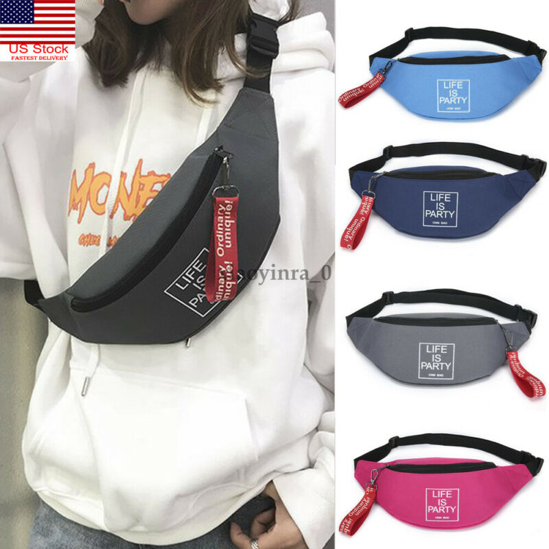 Outdoor Sport Cycling Bumbag Fanny Pack Travel Hiking Waist Belt Pouch Wallet US