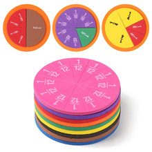 51 Pcs EVA Rotonda A Forma di Strumento di Frazioni Dimostratore Montessori Matematica Giocattoli Educativi di Matematica Strumento di Apprendimento Insegnamento Regali