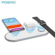 Беспроводное зарядное устройство 3 в 1 для Airpods pro, Apple Watch 2 3 4 5, быстрая зарядка 10 Вт для iPhone 11 Pro XS MAX XR X 8, зарядное устройство для телефона