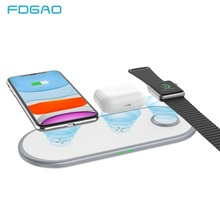 3 in 1 Wireless Charger For Airpods pro Apple Watch 2 3 4 5 Fast 10W Charging Pad For iPhone 11 Pro XS MAX XR X 8 Phone Charger