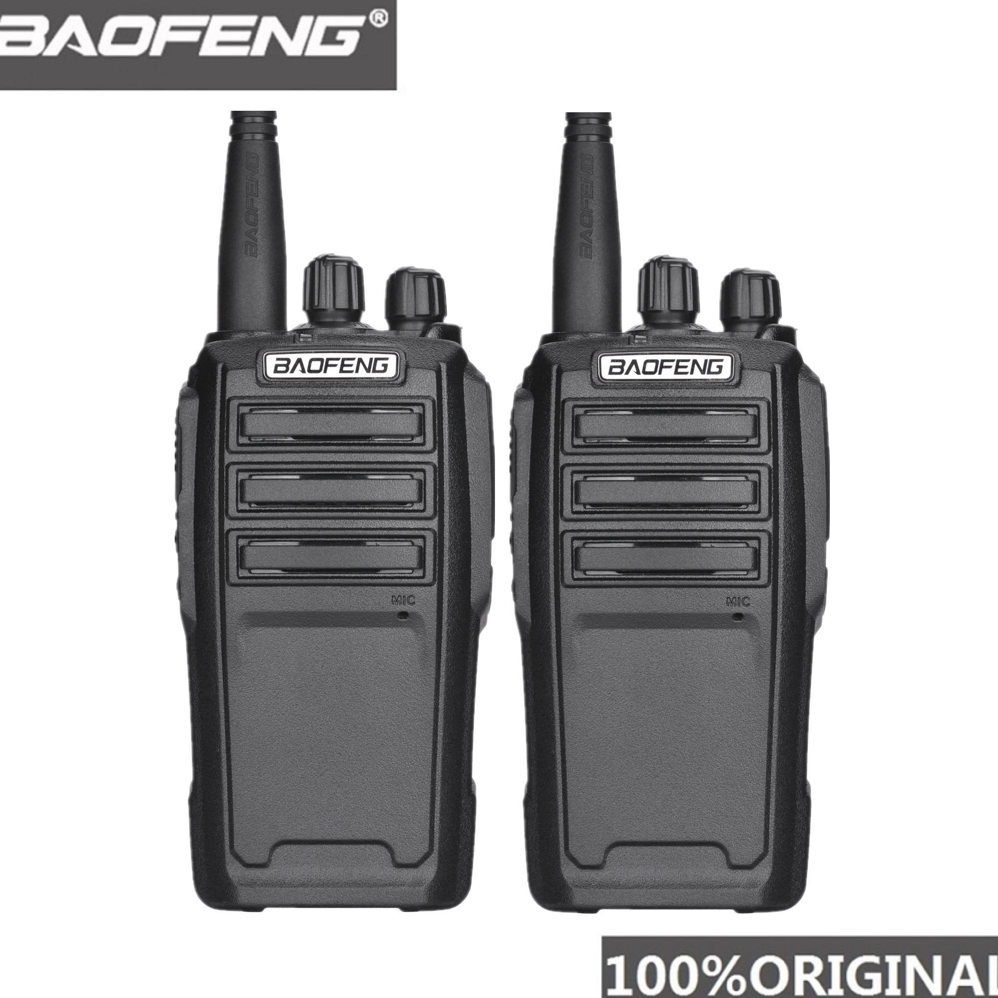 2PCS Baofeng UV-6 8W Ham Radio Security Guard Equipment Two Way Radio Encrypted Handheld Walkie Talkie Ham Radio HF Transceiver
