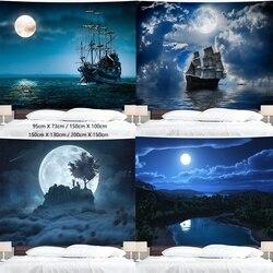 Moon гобелен с пейзажем настенный гобелен с принтом номер Декор гобелен для Спальня фон домашний декор 200X150cm