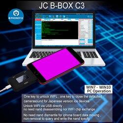 JC B-BOX C3 DFU um Eine Taste Lila für IOS A7-A11 für iPhone & iPad Entsperren WIFI Ändern NAND Syscfg daten Gleiche wie Fenster DCSD Kabel