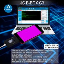 JC B-BOX C3 DFU una tecla a púrpura para IOS A7-A11 para iPhone y iPad desbloqueo WIFI modificar datos de NAND Syscfg como la ventana Cable DCSD