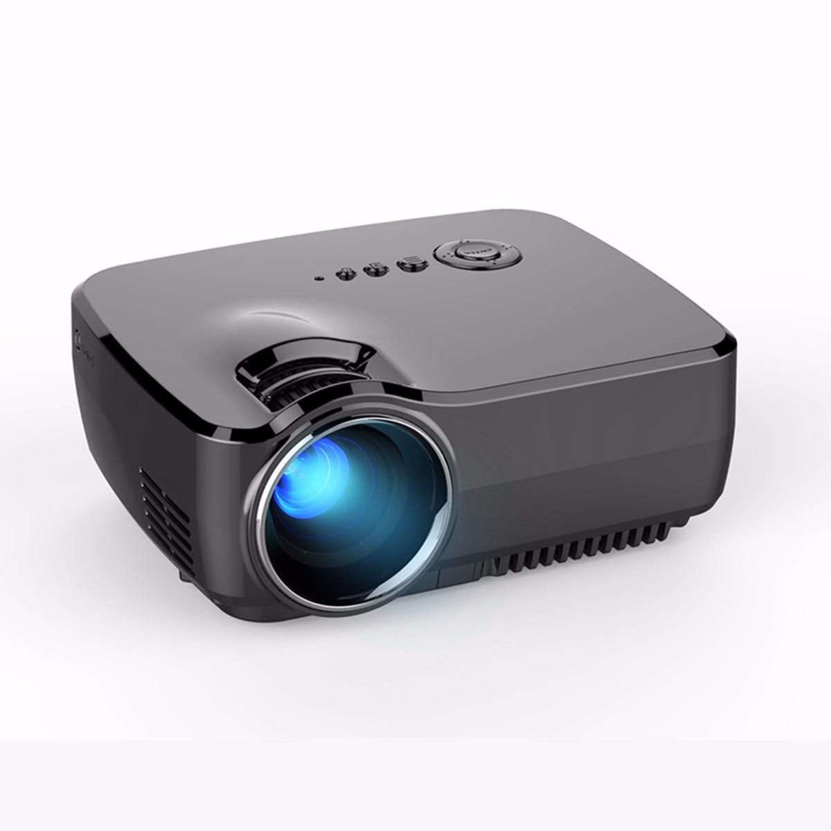 Projecteur vidéo portatif de HD 1080P LED Mini projecteurs 1200LM faisceau vidéo de cinéma maison 4K pour les Smartphones de jeux vidéo de cinéma maison