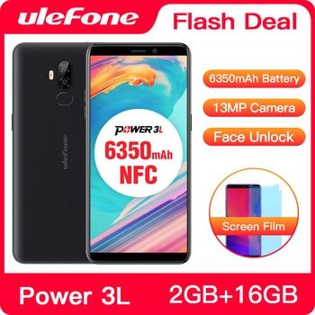 Купить Ulefone Power 3L 6,0 дюймHD + Android 8,1 мобильный телефон MTK6739 четырехъядерный 2 ГБ + 16 Гб NFC 13 МП + 5 Мп камера 6350 мАч Face ID 4G смартфон