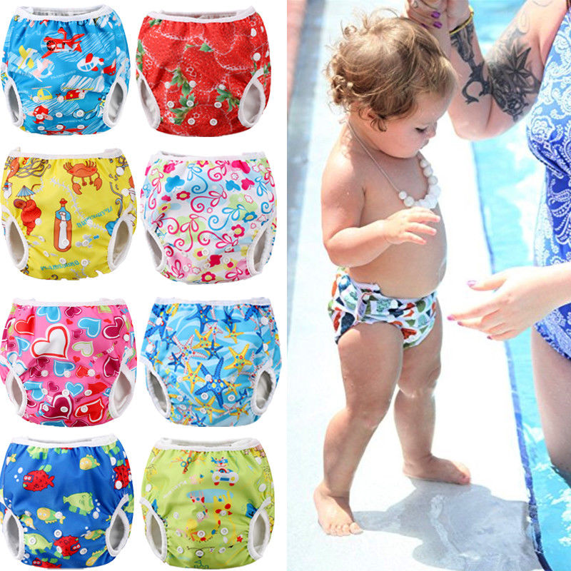 Baby Summer Cute 9 Colors Summer Swim Diaper Waterproof Swim Trunks Adjustable Infant Baby Boy Girl Toddler Swimwear Beachwear