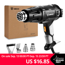 DEKO Heat-Gun Power-Tool Four-Nozzle Electric Attachments 3-Temperatures 2000W Variable