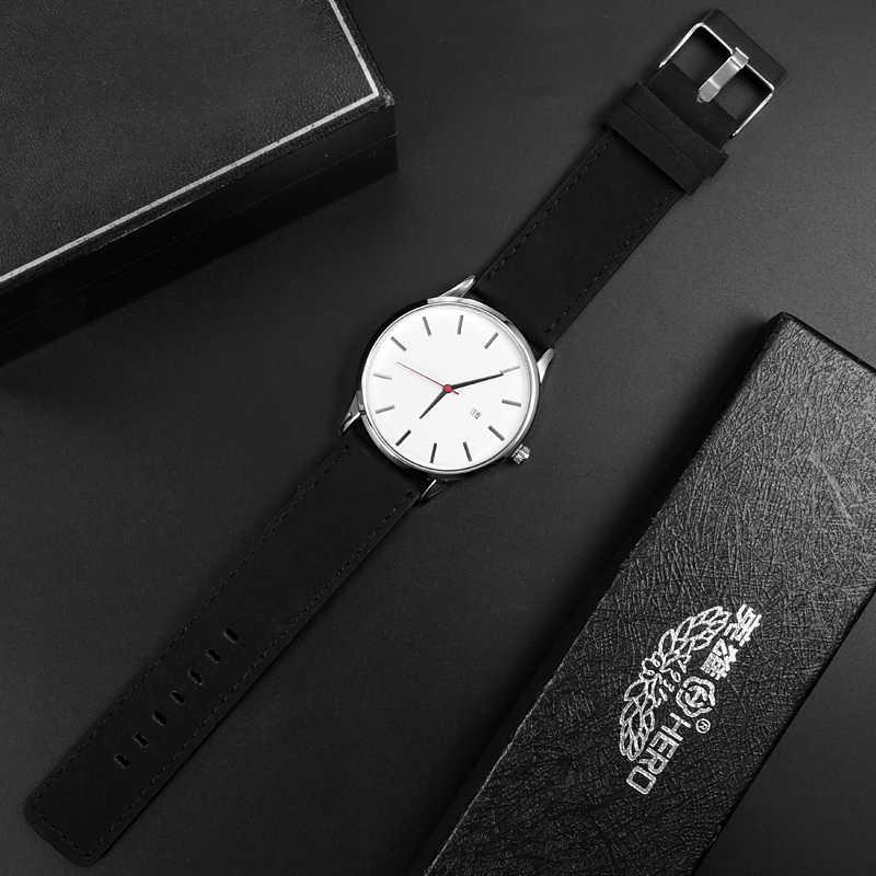 גברים של שעונים אופנה עור קוורץ שעון גברים מקרית ספורט זכר erkek kol saati שעוני יד Montre Hombre Relogio Masculino