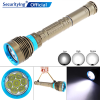 30000LM Flashlight Waterproof Underwater 50M Diving Flashlight with Rotating Magnetron Light Support 18650 / 26650 Batteries