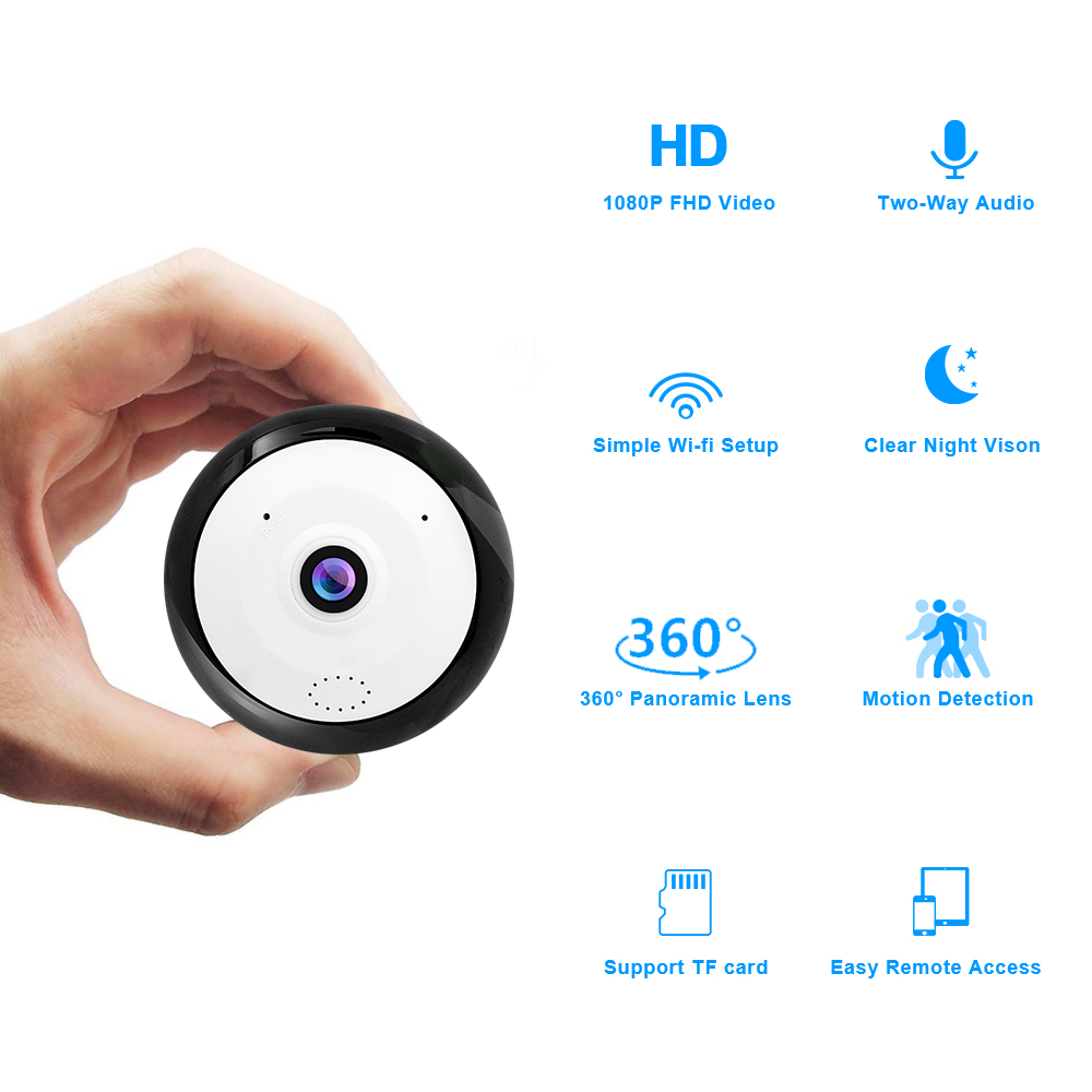 Loosafe 360-Grad-Panorama-WLAN-HD-Kamera Nachtsichtunterstützung - Schutz und Sicherheit - Foto 5