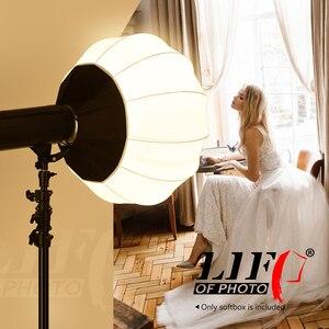 Image 5 - LA VITA DI FOTO 65 cm/25.6in Lanterna di Stile Pieghevole Softbox Illuminazione Modificatori di Forma Rotonda Sferica Molle Light Box Accessori