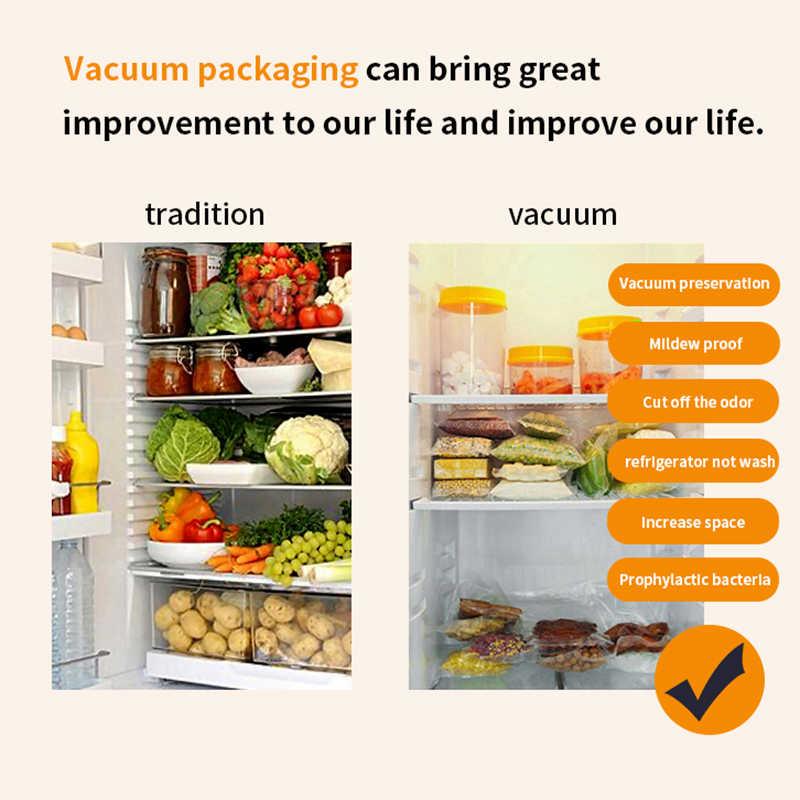 SaengQ 100 adet/grup mutfak vakum torbaları gıda vakum mühürleyen paketleme makinesi gıda saklama çantası BPA içermeyen mutfak aksesuarları
