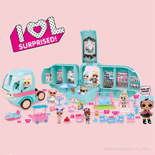 Original lol surpresa bonecas diy 2-em-1 ônibus glamper brinquedo lol boneca jogar casa jogos l.o.l surpresa brinquedos para meninas presentes de aniversário