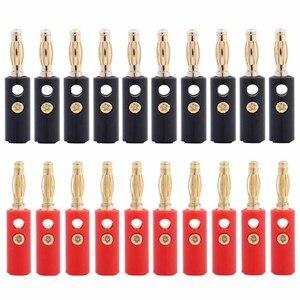 Haut-parleur plaqué or 3mm | Connecteur banane, prise banane