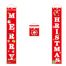 Christmas Banner Wall Hanging Curtain Door Home Party Holiday Supply