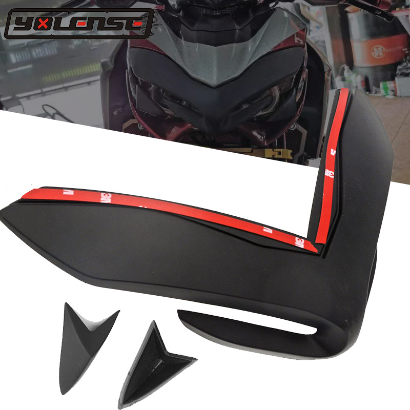 For <font><b>KAWASAKI</b></font> Z900 <font><b>Z</b></font> <font><b>900</b></font> <font><b>2017</b></font> 2018 2019 Motorcycle Front Fairing Aerodynamic ABS Winglets Cover Protection Guards image