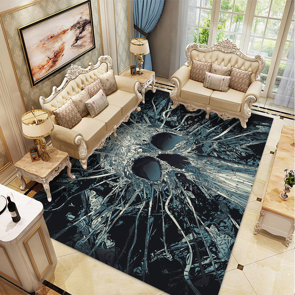 Halloween Party Area Rugs Coffee Table Floor Mats/Rugs 3D Creative Skull Pattern Carpets For Living Room Home Decor Large Carpet