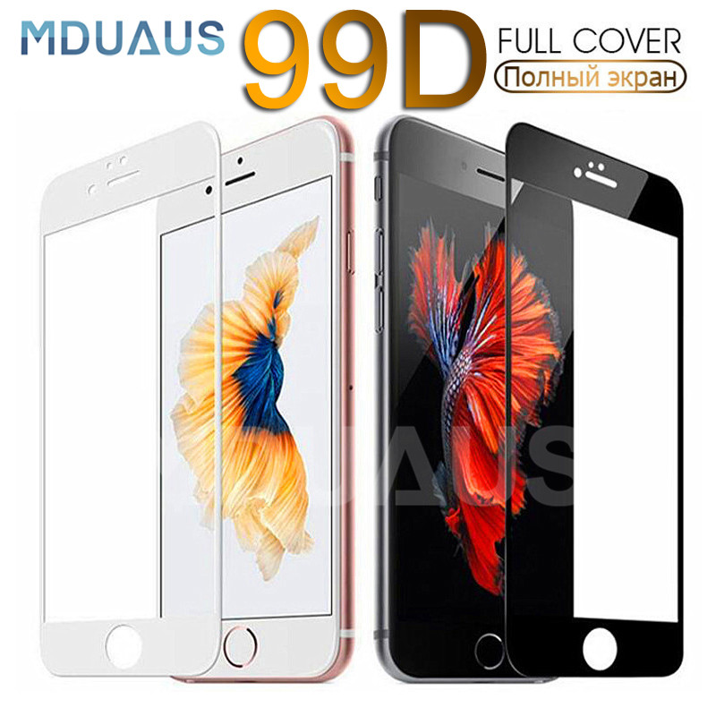 99D Full Cover Tempered Glass On For IPhone 11 Pro X XR XS Max Screen Protector Protective Glass For IPhone 7 8 6 6S Plus Film