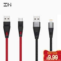 Câble d'éclairage certifié ZMI MFi 3 A USB type C de charge rapide câble de manchon tressé en Nylon PP de qualité supérieure pour iphone AL706