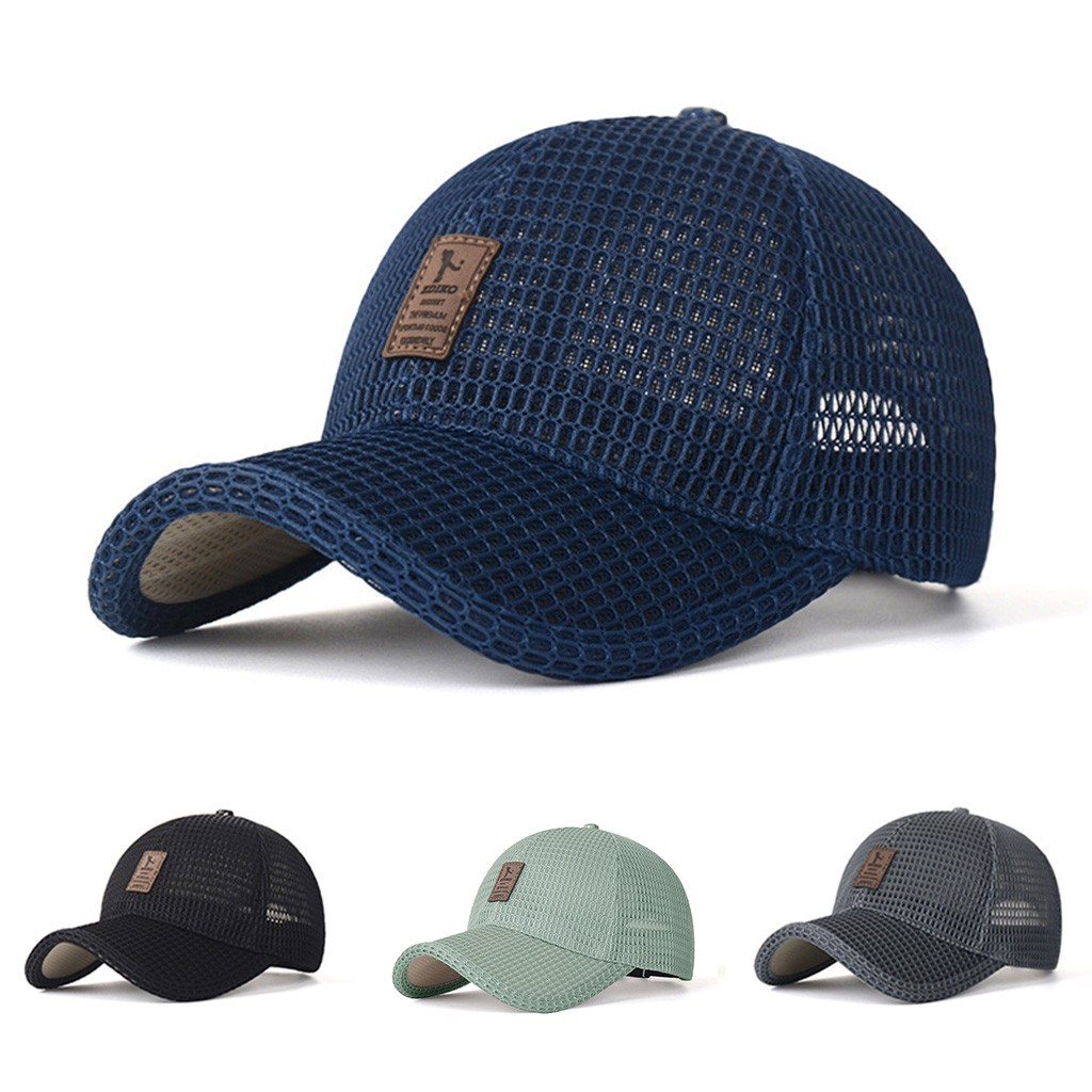 Men's Mesh Quick Dry Solid Outdoor Sun Protection Hats Casual Running Baseball Hip Hop Summer Fashion Caps #33