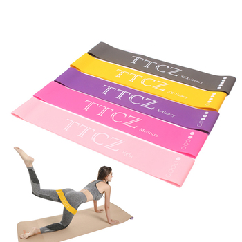 Yoga Resistance Rubber Bands Kinetic Home Gym Exercise Workout Bands Yoga Resistance Bands Set Elastic Bands for Fitness image